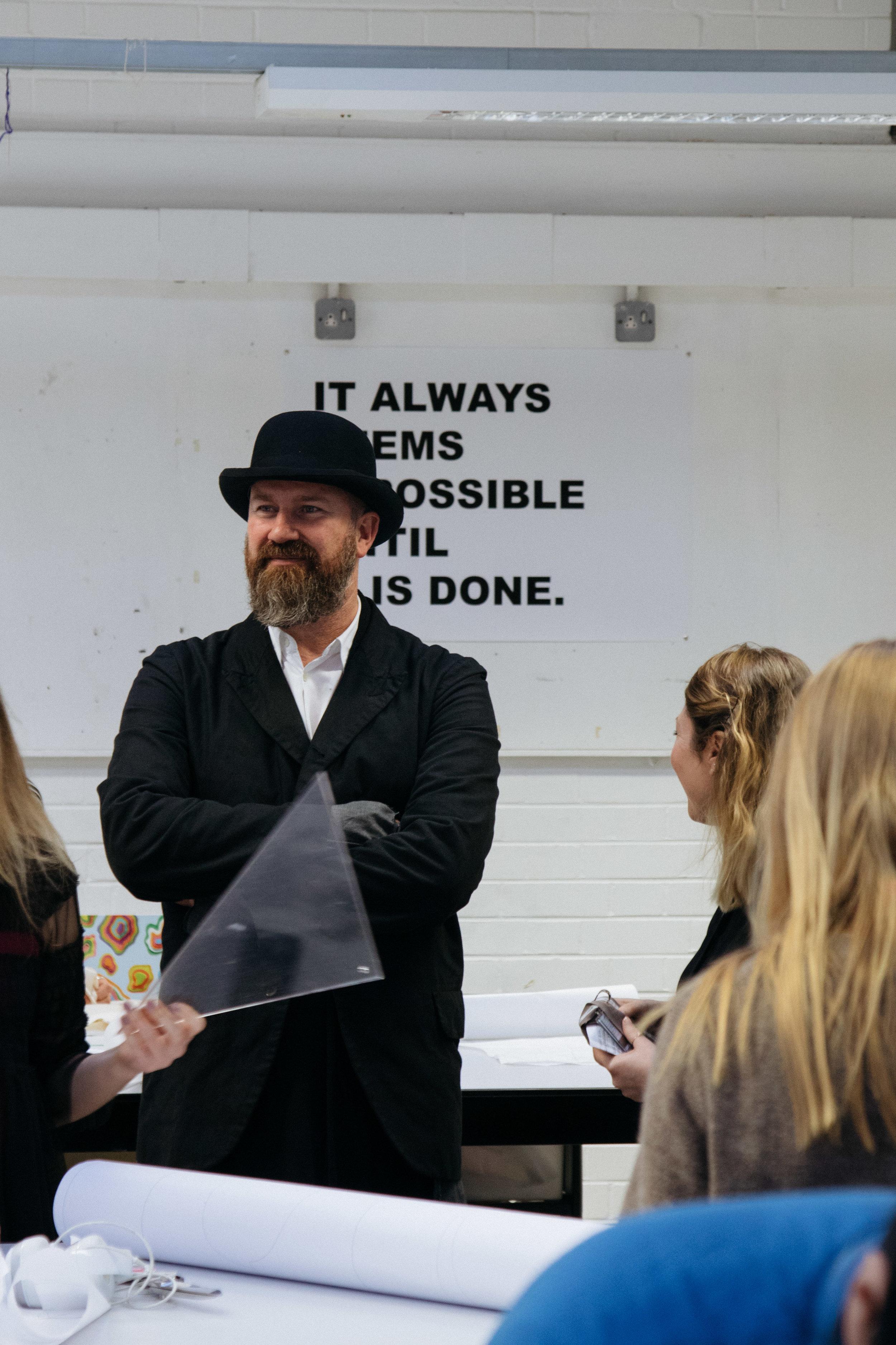 Martyn in fashion studio, Nottingham Masterclass, Image by Richard Hargrave.jpg