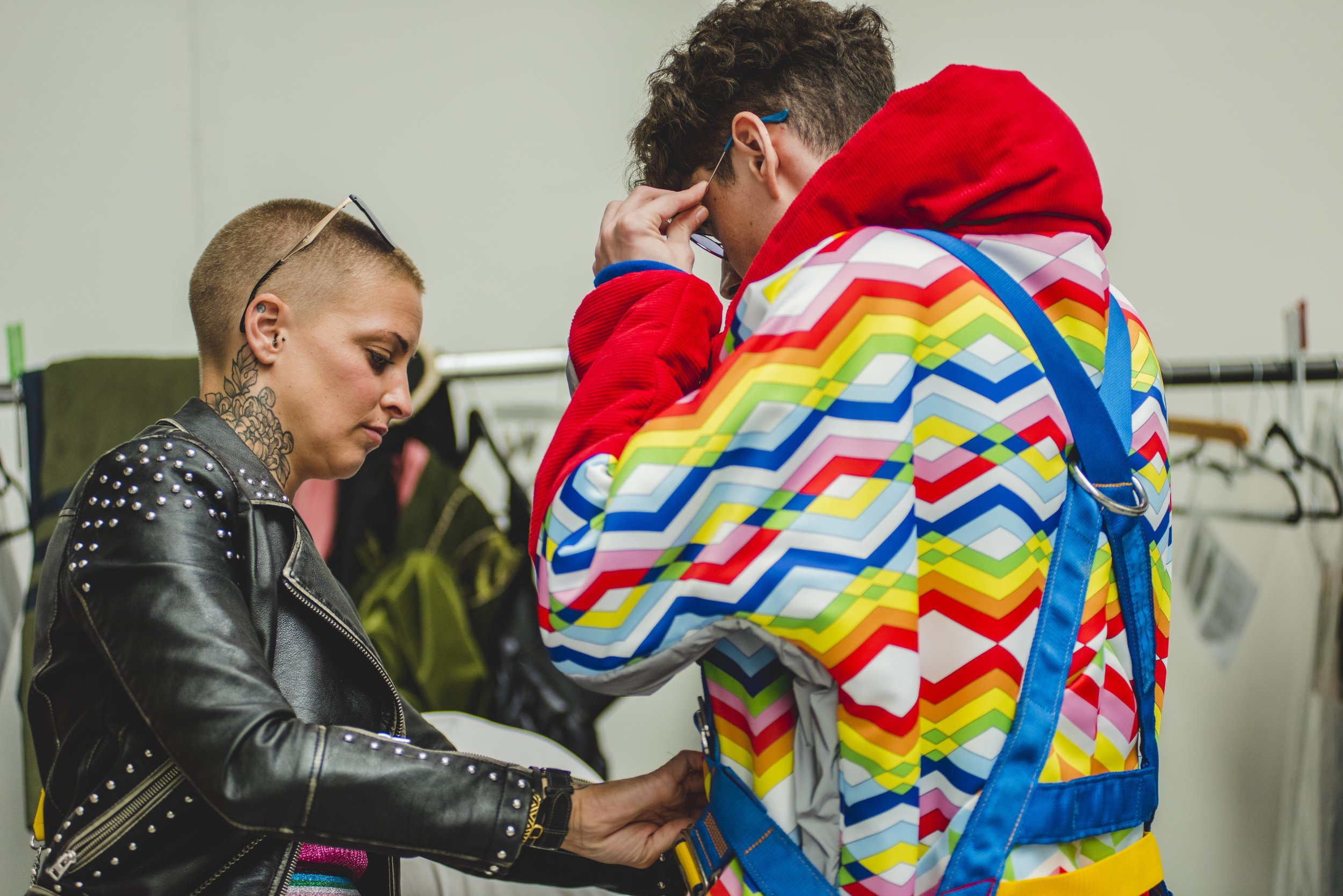 Amy Bray Backstage at GFW18
