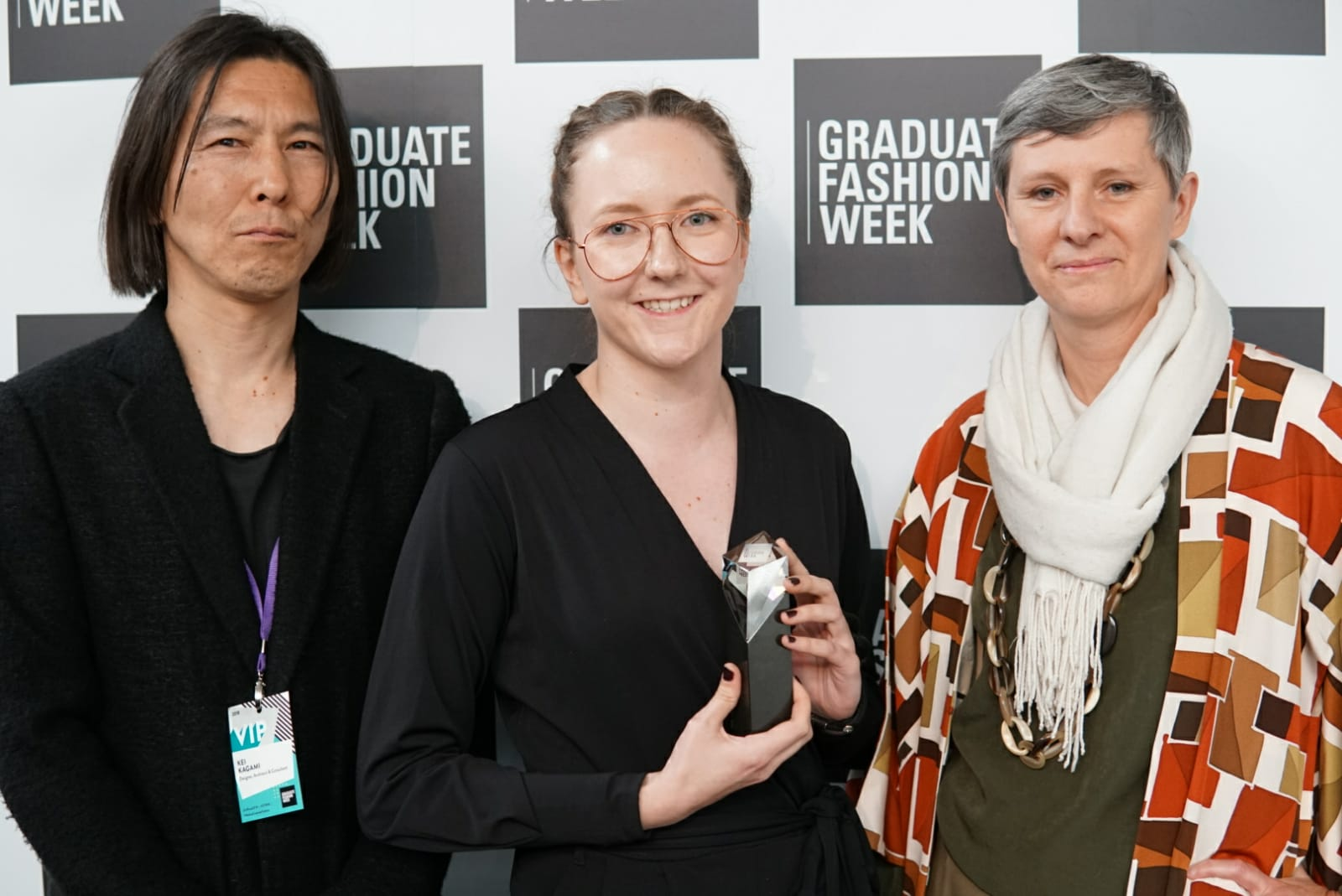 YKK Accessories Award winner Essie Pekhuri at GFW18 with the YKK team