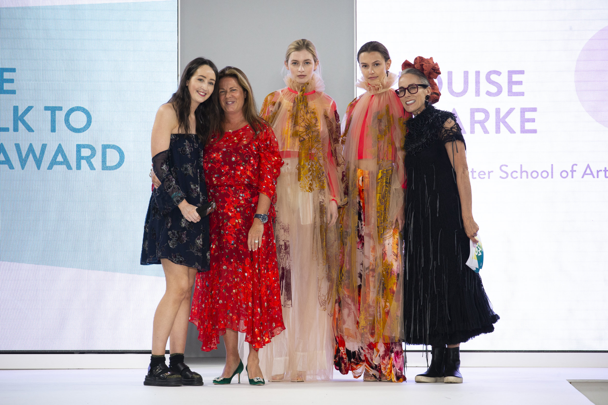 "The 2018 George ""Catwalk to Store"" award winner, Louise Clark from Manchester School of Art"