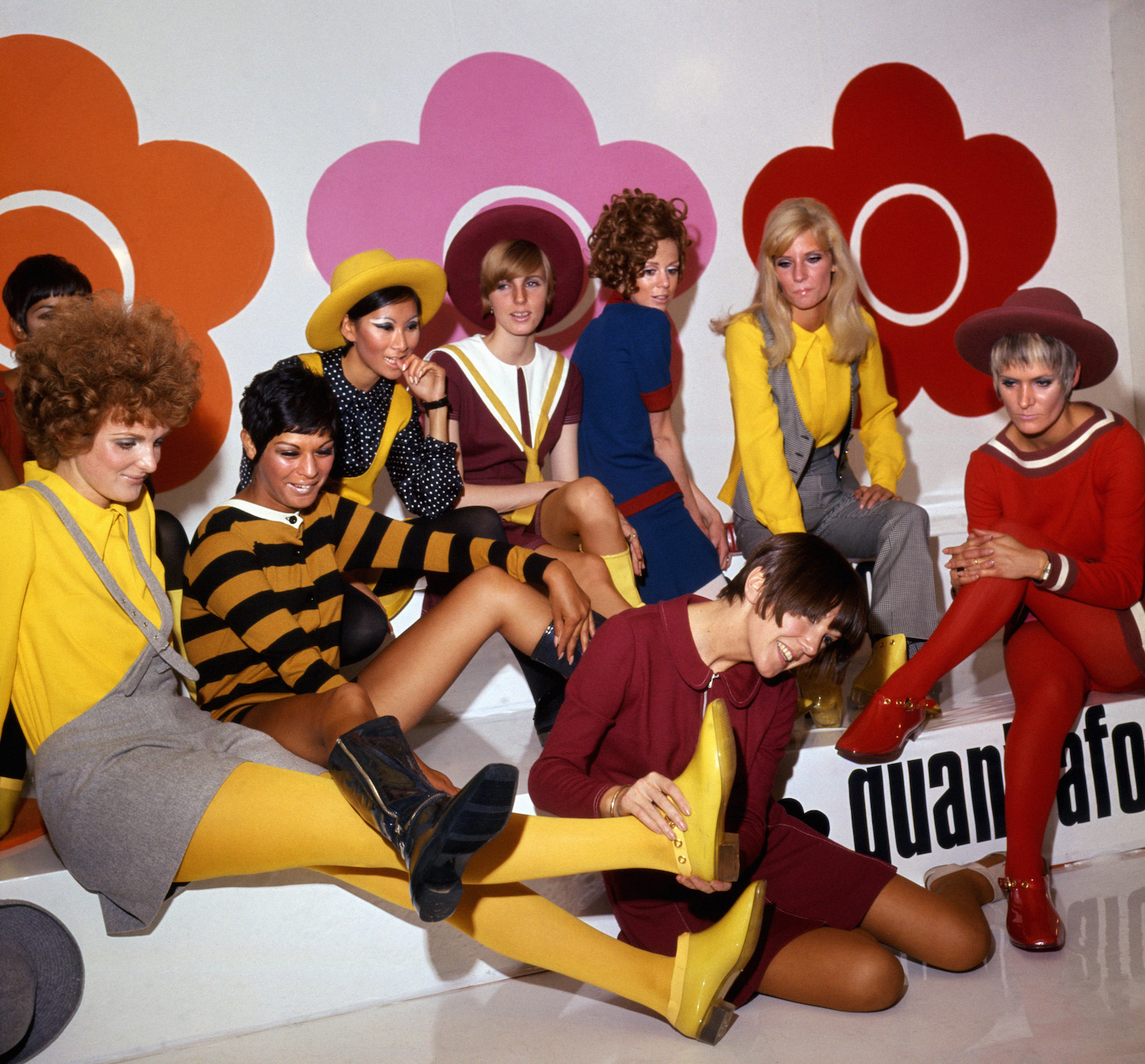 Mary Quant and models at the Quant Afoot footwear collection launch, 1967 © PA Prints 2008.jpg