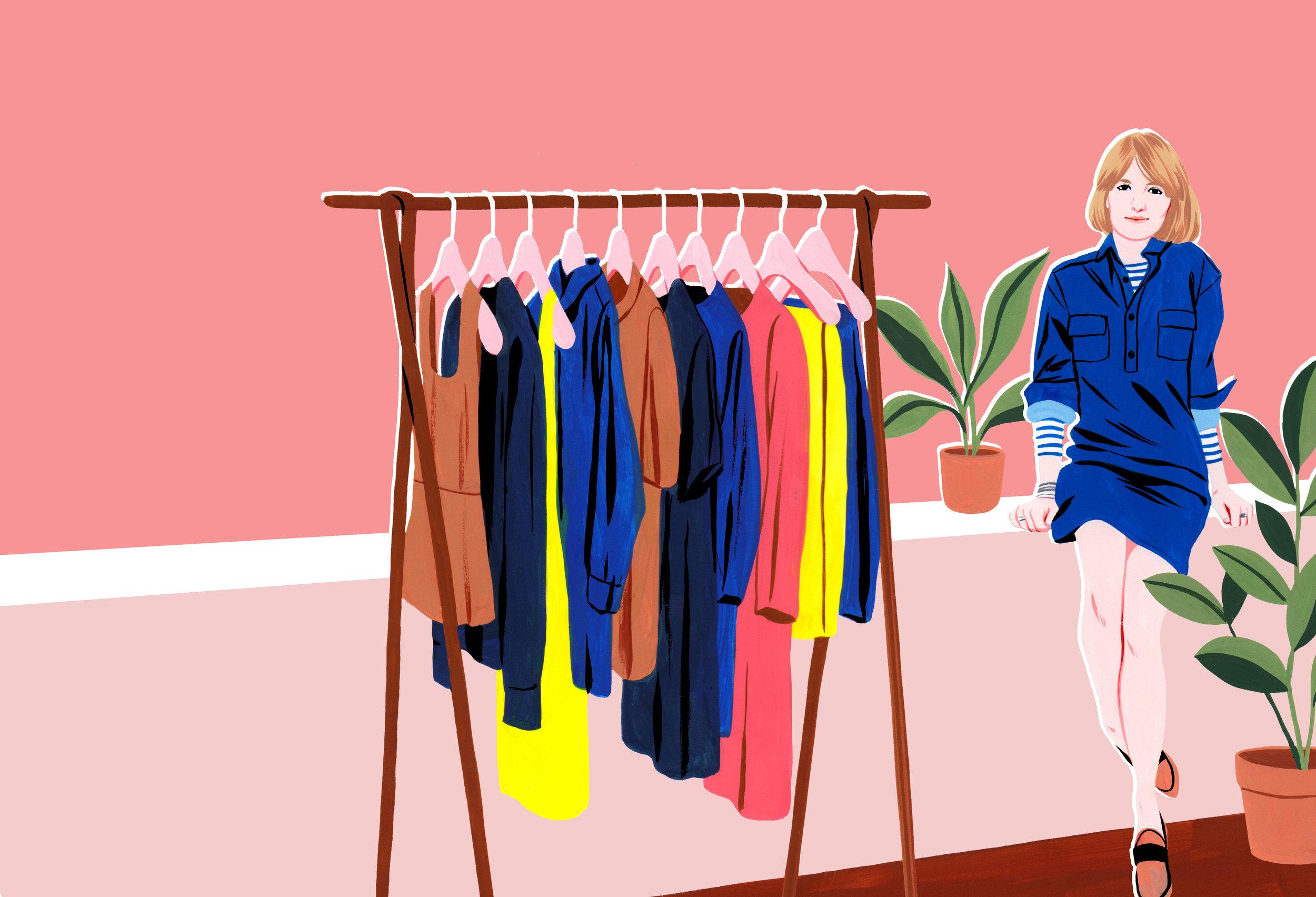 Illustration by Bijou Karman for Alexandra's book, How to Dress