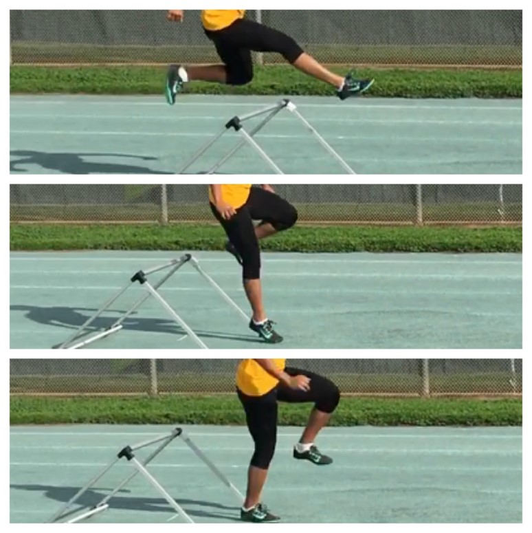 Example of plantarflexion before touchdown phase of sprinting