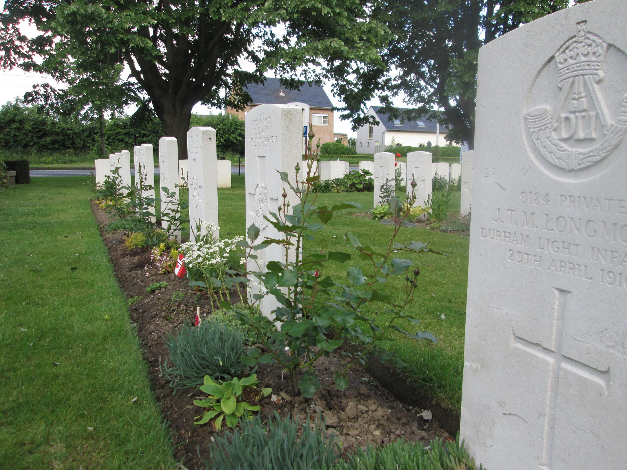 Essex Farm Cemetery where John McCrae penned 'In Flanders Fields'