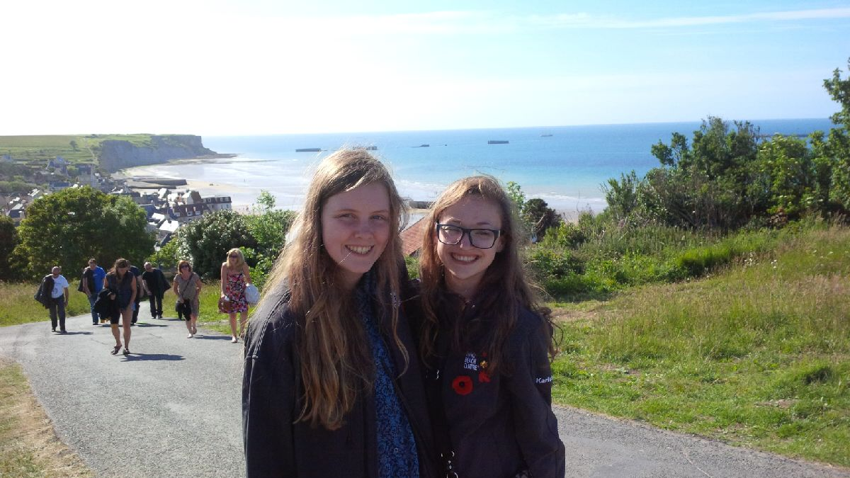 Exploring the Mulberry Harbour and museum at Arromanches (Gold Beach on D Day)