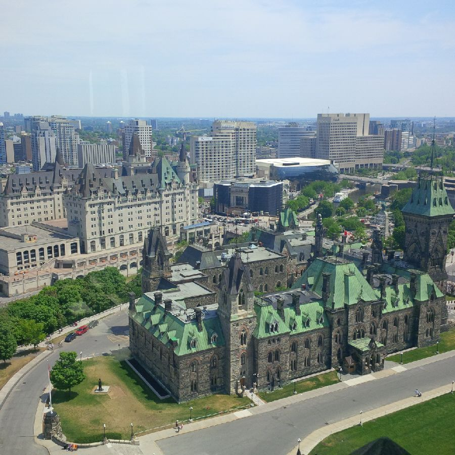 A view from the Peace Tower