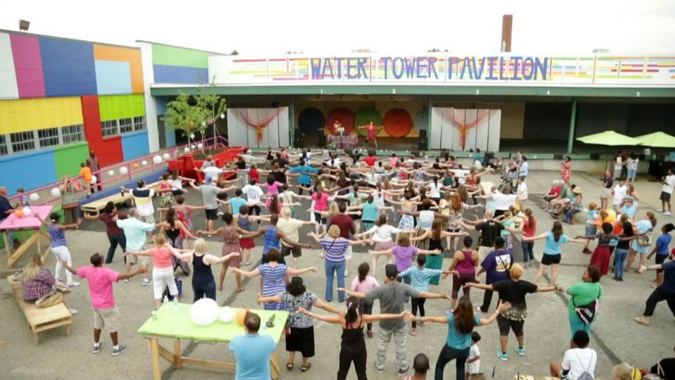 Water Tower Pavilion Dance on Broad Avenue