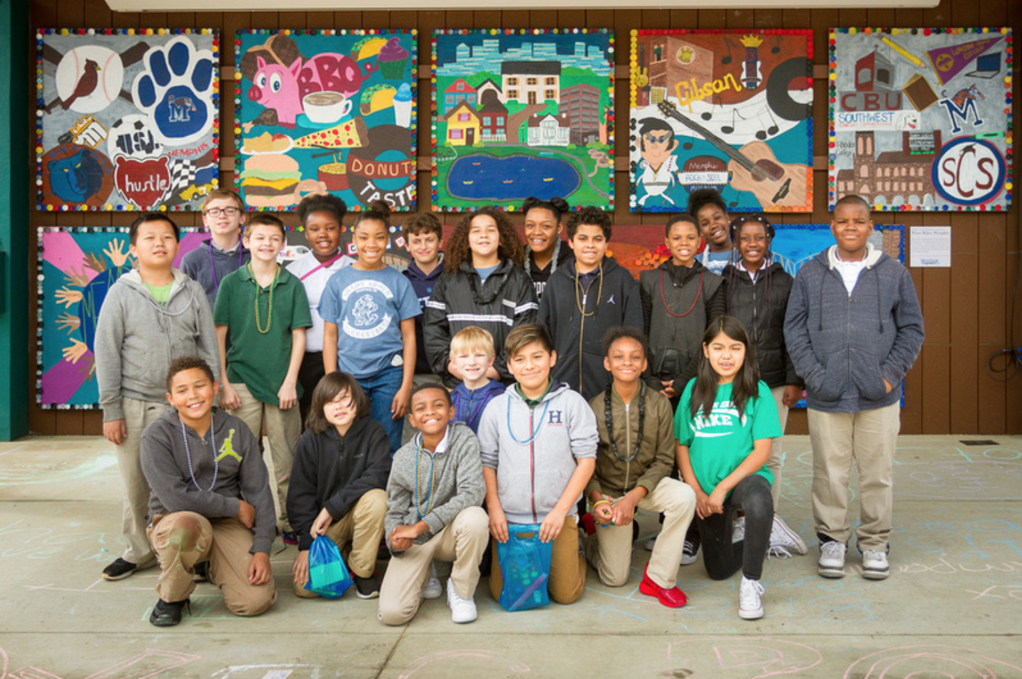 Shady Grove Elementary Art Installation at Overton Square