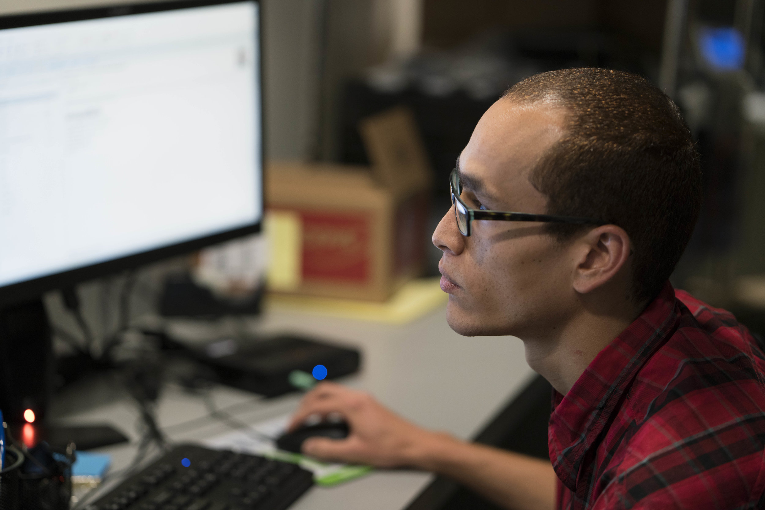 Ivan '16 hired by tech support at Greenspoon Marder.