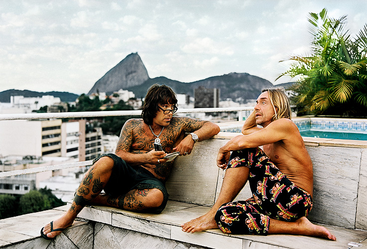 Iggy Pop visiting Jonathan Shaw's home in Rio de Janeiro, 2005 (c) Sebastian Mayer for  Trip Magazine