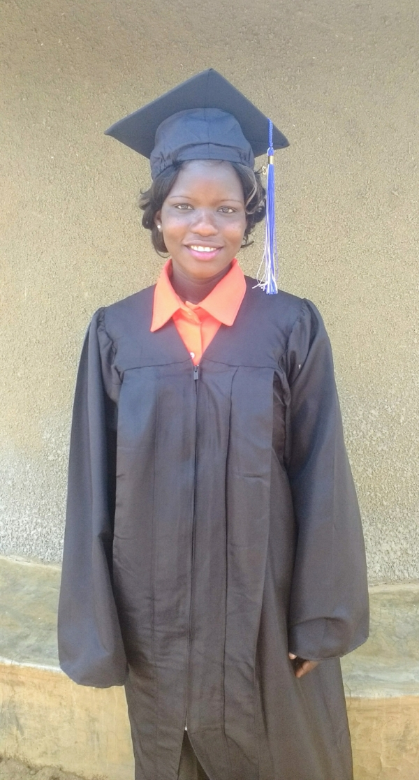 Beatrice, graduation March 2017 with Class 8 from Lukome Center, Lukodi, Uganda