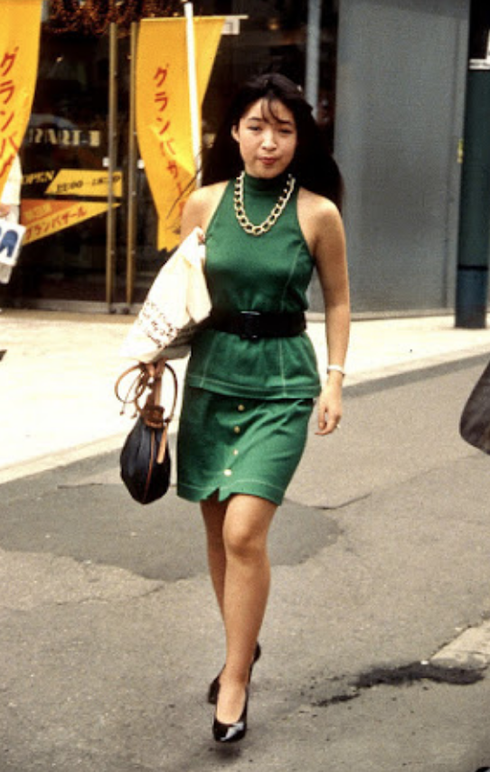"""One-length cut and body-conscious one piece"" (1987) (Credit: Tokyo Street Fashion and Culture: 1980-2017)"