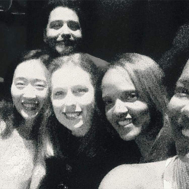 Pre show in the dark picture… What a beautiful group of souls. 🤘🏽💗🙌🏾💥 #unterföhring #germany #TinekePostma #musicians #badass #TerriLyneCarrington #JoshHari #HelenSung  (at Bürgerhaus Unterföhring)