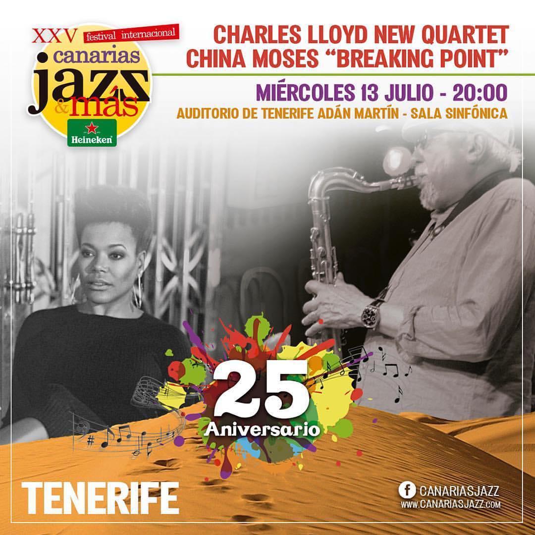Tomorrow. Concert. Playing the same night at #CharlesLlyod #whaaaaaaaaaaat 🙌🏾💜 #canariasjazz #tenerife #geeked #nightintales #breakingpoint #singerontheroad #spain #canaryislands  (at Auditorio Adan Martin Santa Cruz De Tenerife)