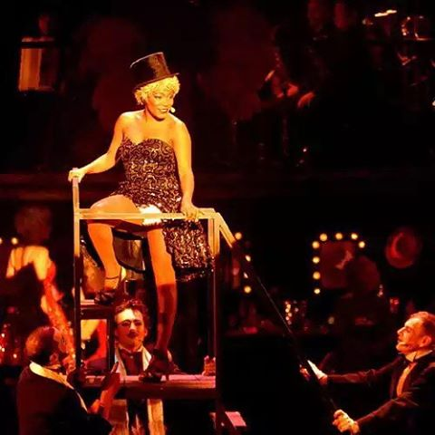 """Tomorrow night, #vevey #Switzerland, will be the last time that I perform the role of #sallybowles in the French production of #cabaretthemusical by #operaeclate . I had never acted on stage before, let alone sing and dance. I worked with amazing multi-talented people from many different backgrounds… There were no ego fights, no hair pulling (only on stage), just love. And somehow this unexpected bunch became a family. A family with whom I will bring in this #newyear2016 full of hope and passion for life. And as the song goes """"start by admitting from cradle to tomb/ isn't that long a stay/ life is a cabaret ol'chum/ only a cabaret ol'chum/ and I love a cabaret"""" 🎶🍾❤️ (à Le Reflet - Théâtre de Vevey)"""