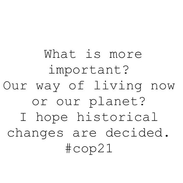 What is more important ? #cop21