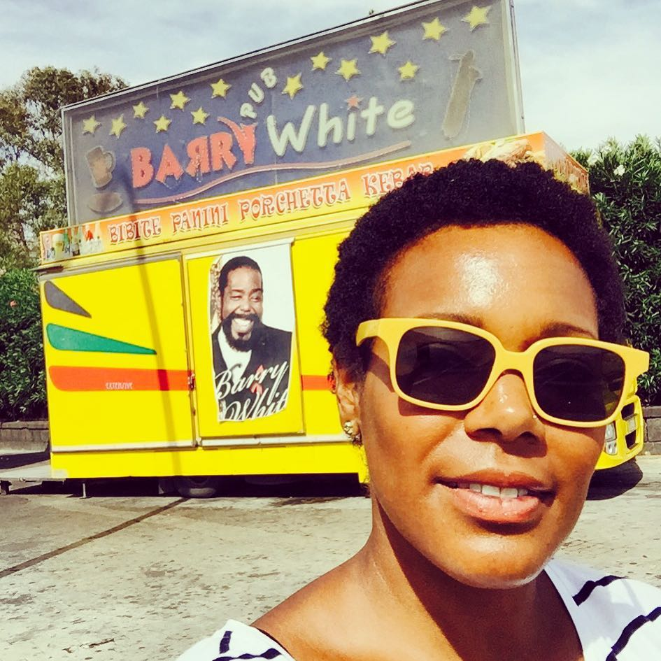 #barrywhite and I. Italy.