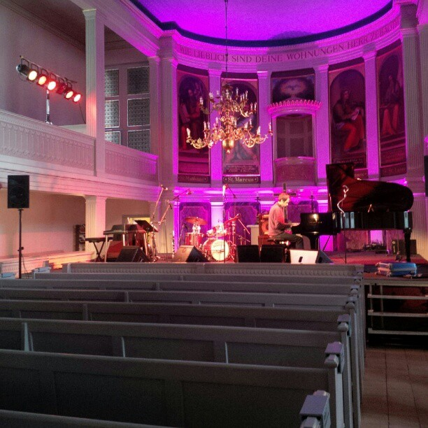 Blues in the church. I am sure the heavens won't mind. #concert #crazyblues #fromtheirpointofview #schlossneuhardenberg #singerontheroad