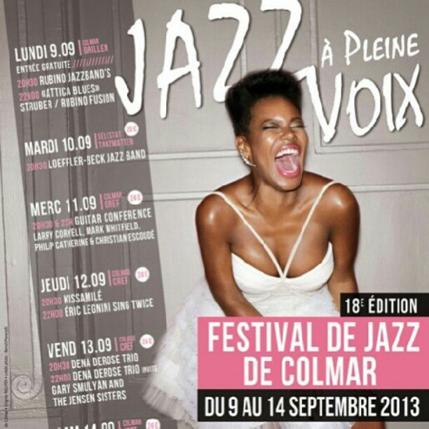 Who is the poster girl for this year's #jazzapleinevoix #colmar ? #crazyblues #singerontheroad #benoitpeverelli cc @anneinstagrampics #poster