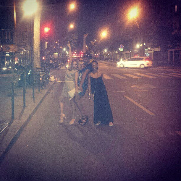 Paris nights with @gigiorigo @omeoagency and the mysterious Alberte. After the #robertglasper concert at the #newmorning