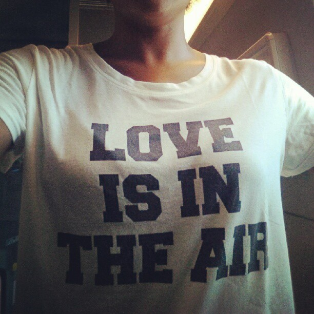 Love is in the air. #tshirt