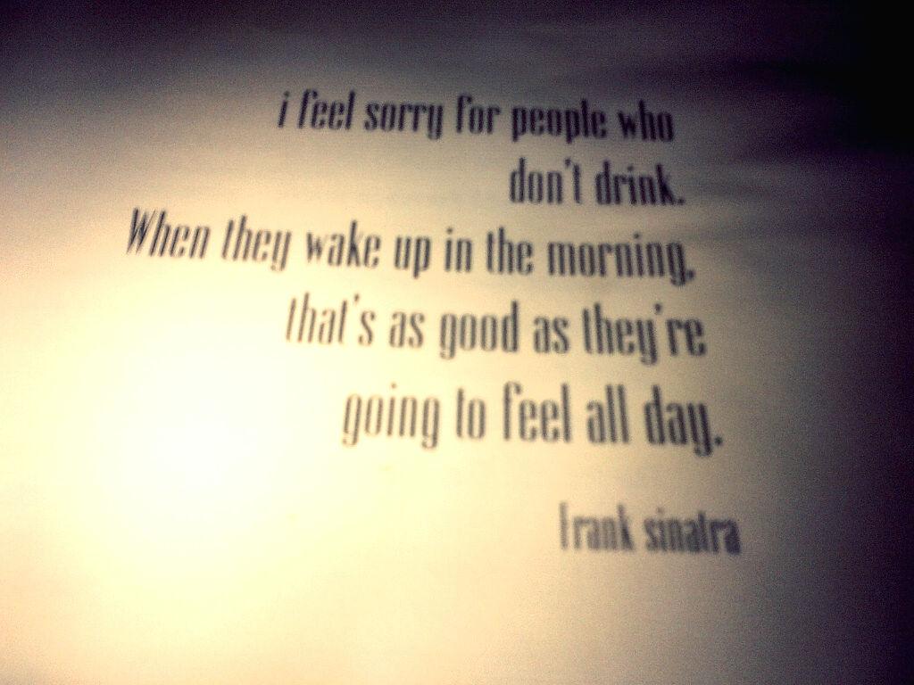 Un-apologetic correct Sinatra