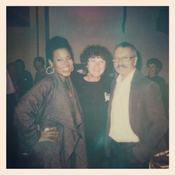 Nothing beats a good ol #Polaroid. Me after the concert with the president of #lesateliersdemeslay and his wife. @jazzmeslay