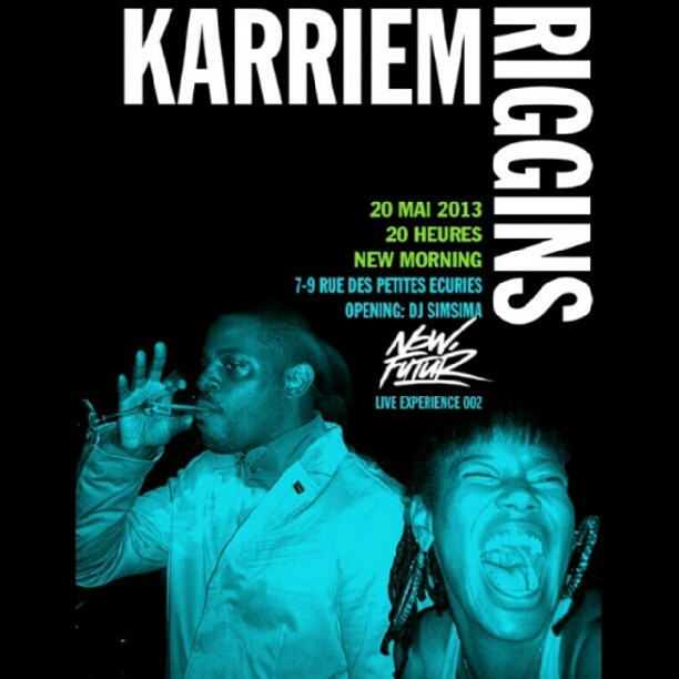 @karriemriggins1 and I. Pic by @masscorporation Hate d' être le 20 mai au #newmorning #paris #karriemriggins is a dope artist and he's coming with a live band!