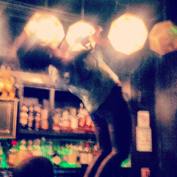Artistic winding on a bar #favelachic #wheretohang #parisianstyle