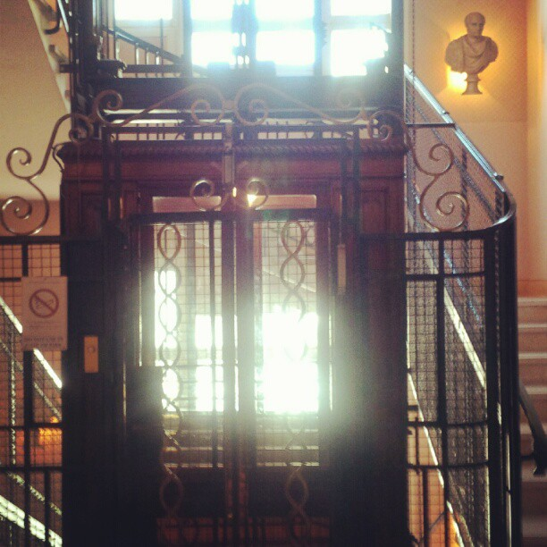 What goes up must come down. #artistry #elevator #design #hotelimperator