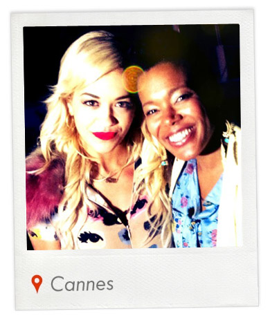 Rita Ora and I during the Cannes Film Festival. Cool chick. Watch my interview of her by clicking on the pic.