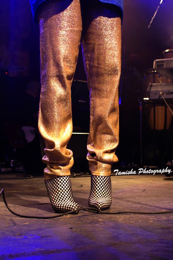 My mom's vintage gold pants x Paul & Betty low boots @ Sankofa Soul Contest