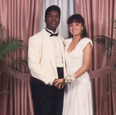 """QUESTLOVE x AMEL LARRIEUX. At the prom.    listeninmono :      dreamchilde :     Questlove took Amel to prom? Wicked!    daughtersofdilla :      Questlove's parents enrolled him at the Philadelphia High School  for the Creative and Performing Arts …     …by the time he graduated, he had  founded a band called The Square Roots (later dropping the word  """"square"""") with his friend Tariq Trotter (Black Thought). Questlove's classmates at the high school included Boyz II Men, jazz bassist Christian McBride, jazz guitarist Kurt Rosenwinkel, jazz organist Joey DeFrancesco, and singer Amel Larrieux.   Questlove began performing on South Street in Philadelphia using drums, while Tariq rhymed over his beats and rhythms.   Questlove also attended the  senior prom  with R&B singer Amel Larrieux.            wow."""