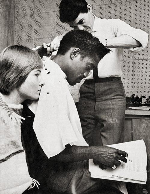 KEEPING HAIR FRESH. SAMMY DAVIS JR.