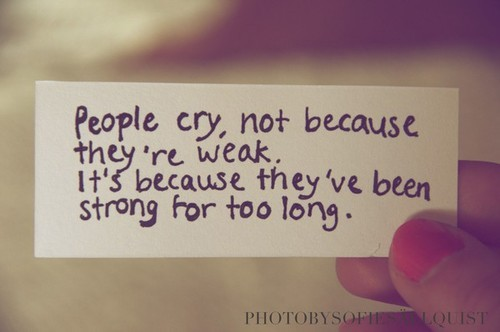 shada :     People cry…