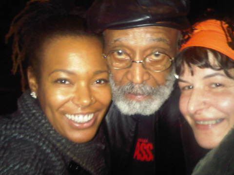 My godmother Fara C., Melvin Van Peebles and I.