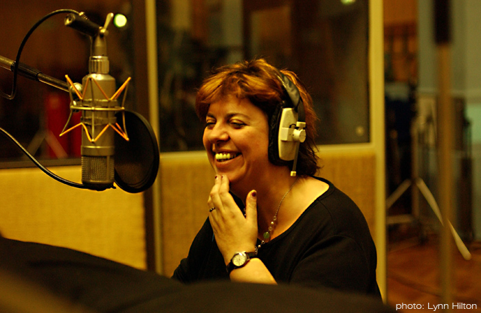 Liane Carroll recording her album 'Standard Issue' at Abbey Road in 2005 - David Hentschel