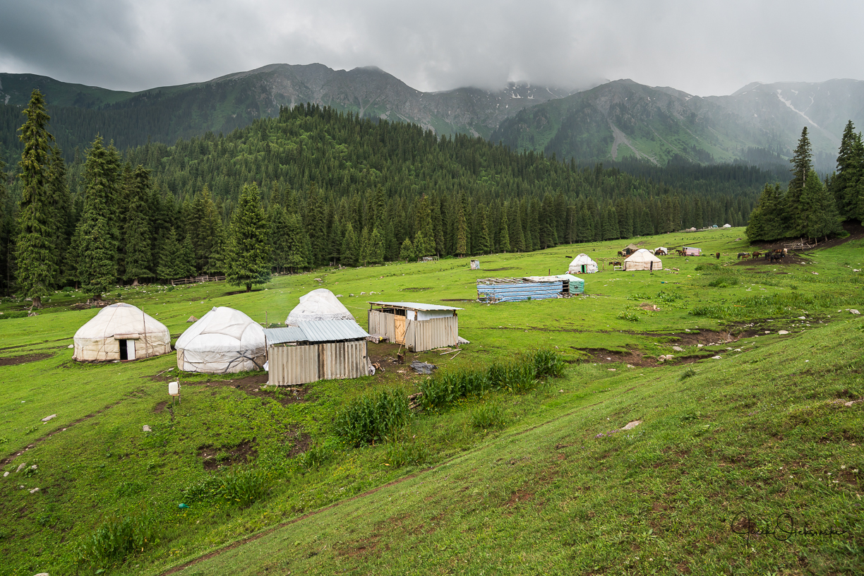 Local yurts in the valley
