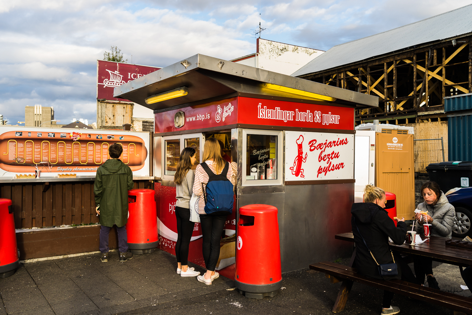 Hot dogs are very popular in Iceland. This one has had customers like Bill Clinton