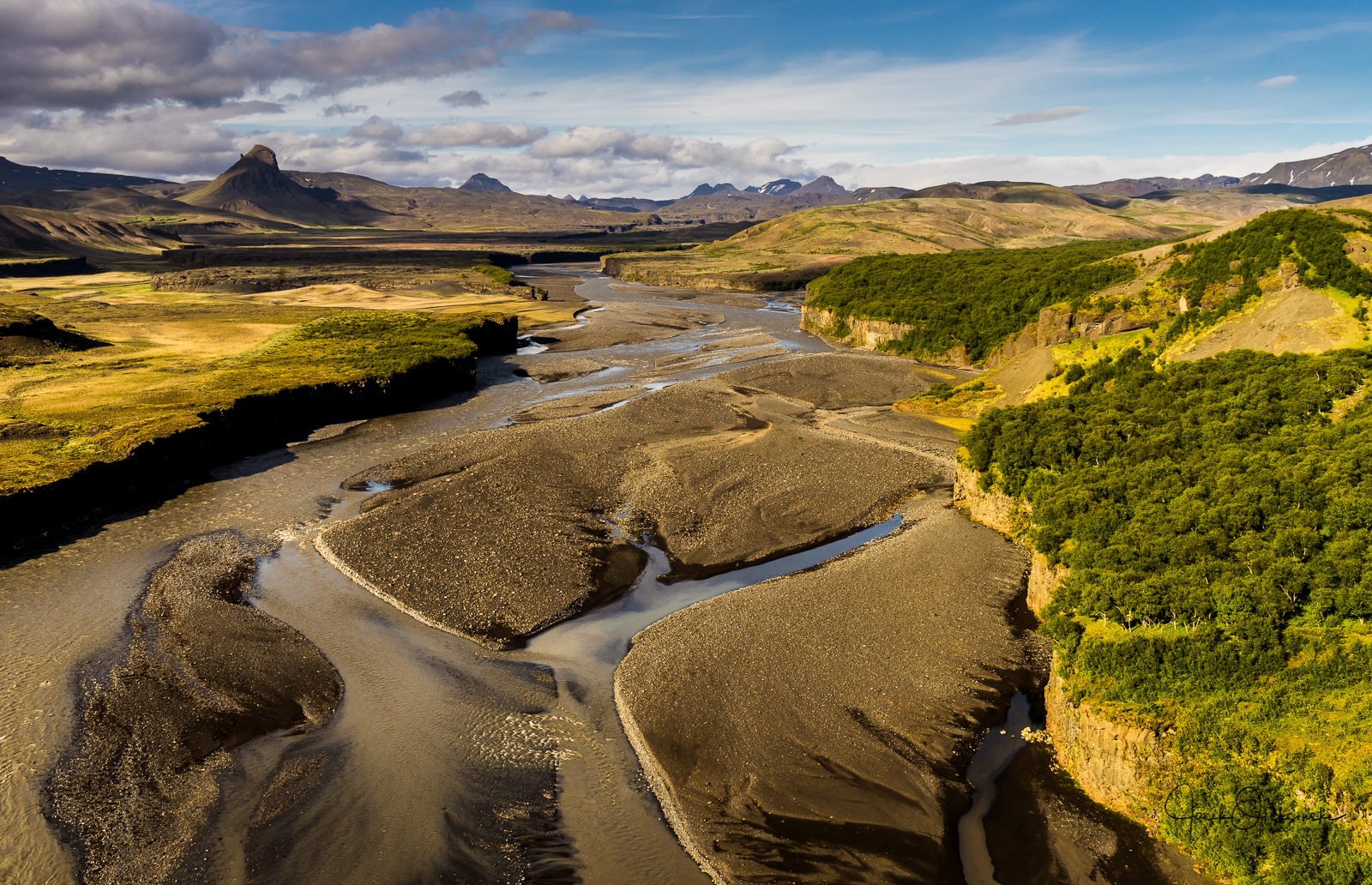 Beautiful landcape in Þórsmörk