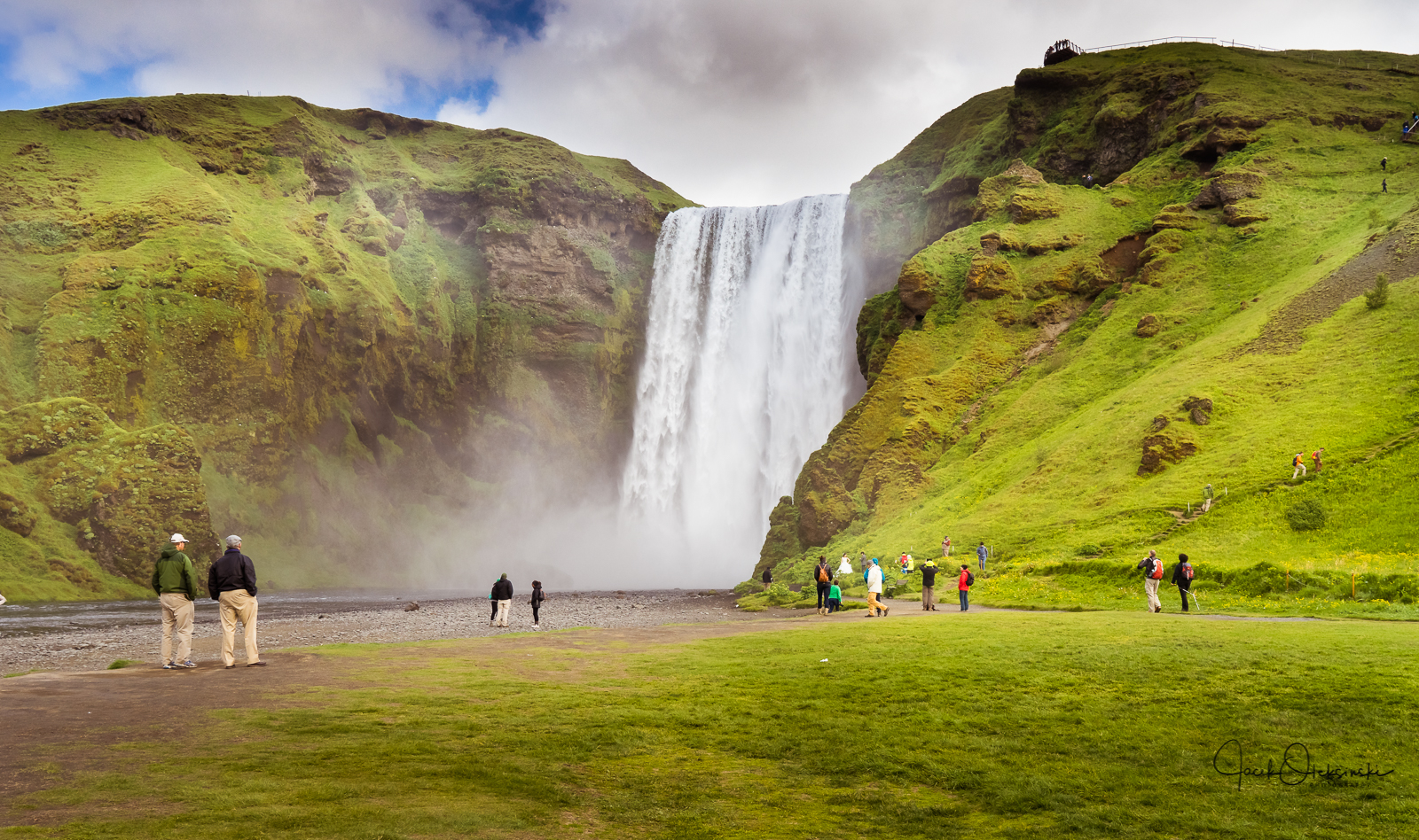 Skogafoss, a very popular destination