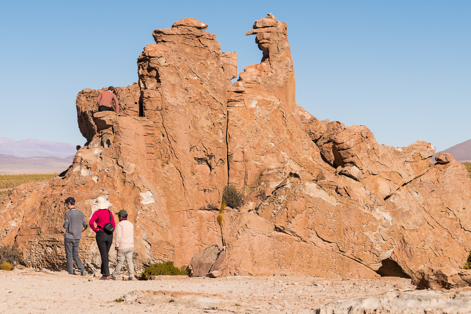 Tourists at the rock formation
