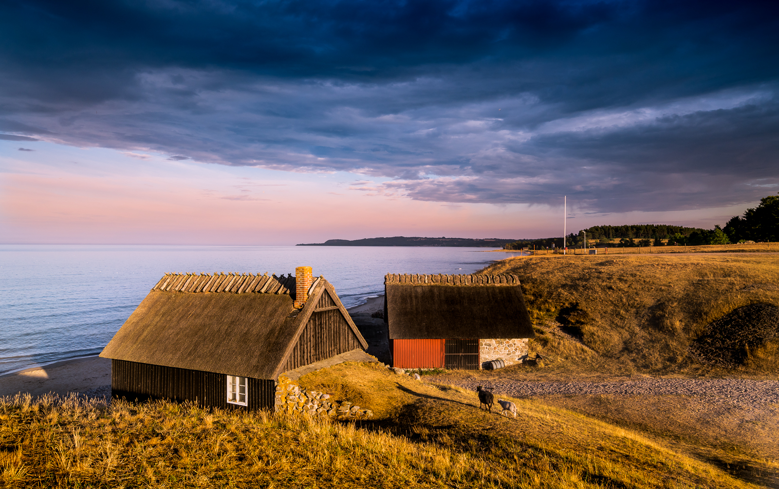 The fishing huts of Ravlunda