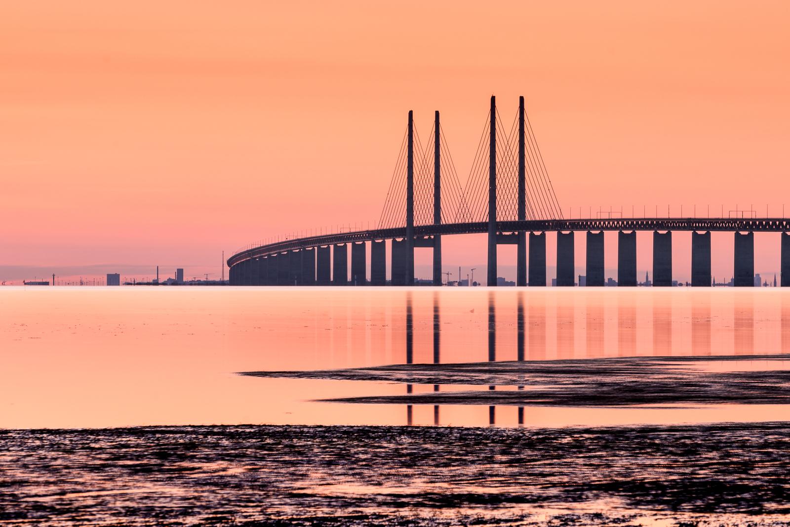 The Öresund bridge as seen from Bunkeflostrand