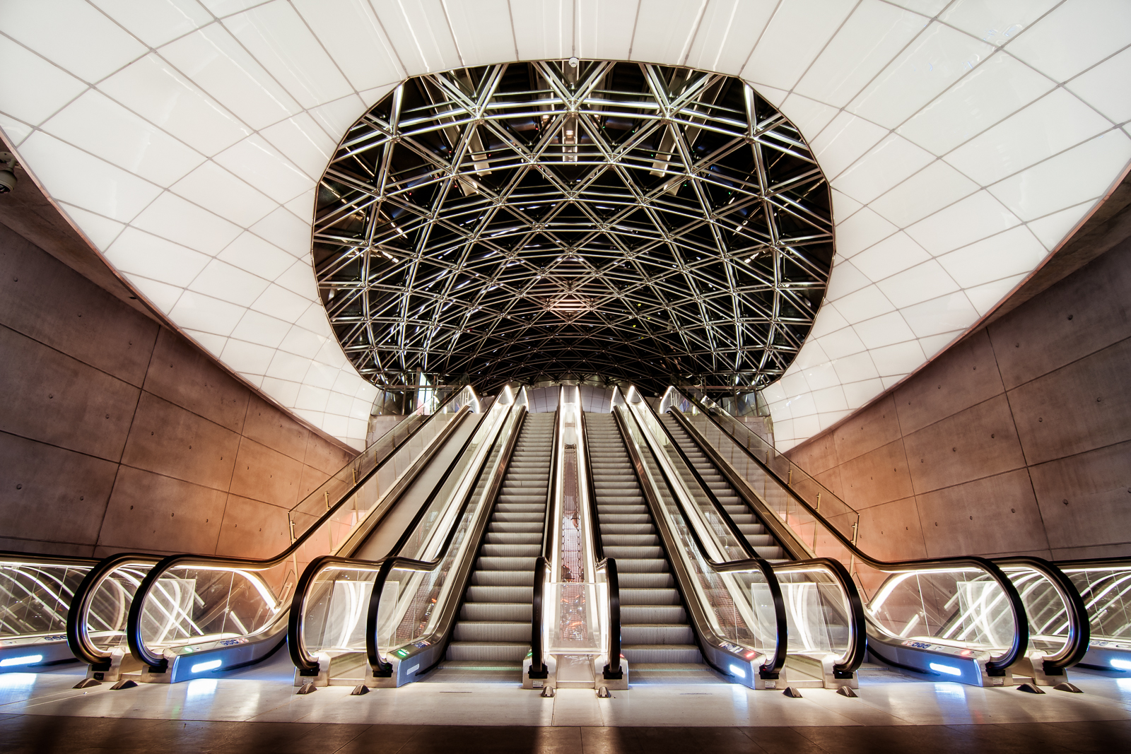 """The """"space ship"""" at Triangeln metro station"""