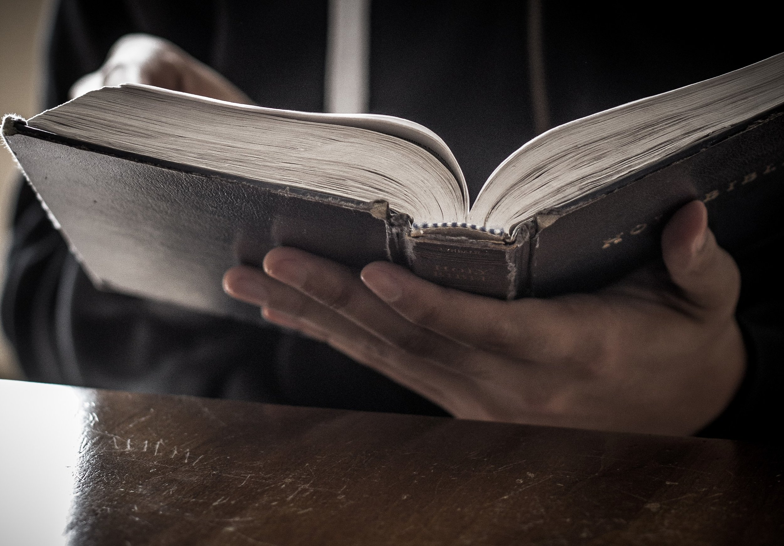 Bible Reading Christian Stock Image.jpg