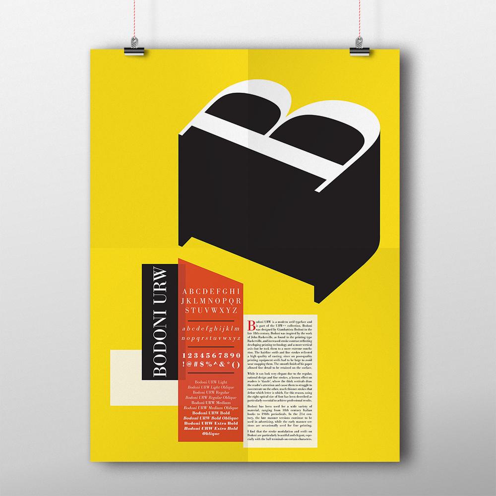 Final type specimen poster.
