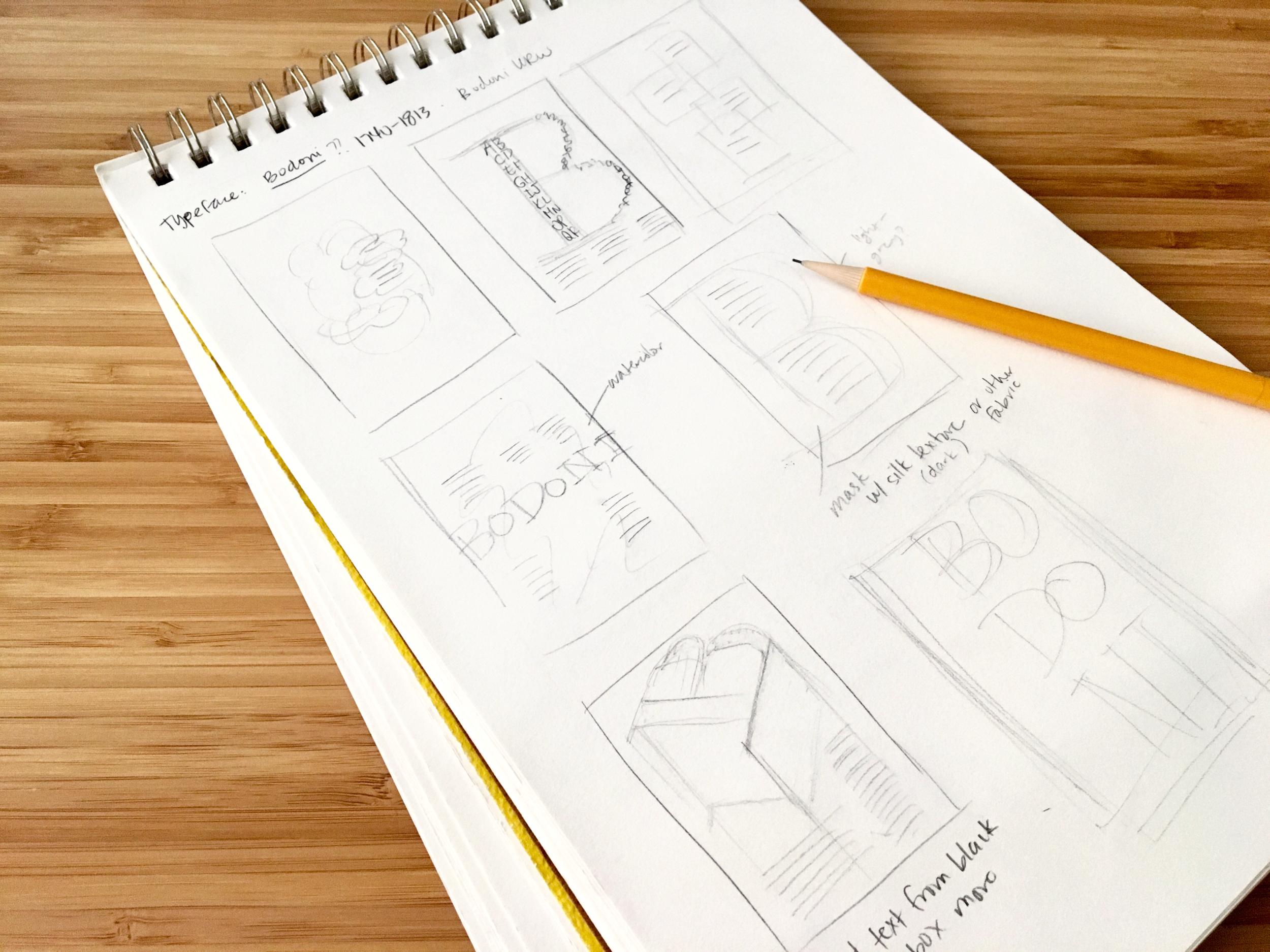 Brainstorm sketches.