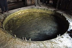 Soap in the traditional ground vat