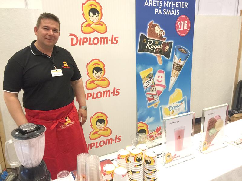 Rune Pedersen fra Diplomis serverte deilig milkshake til de besøkende